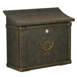 Heibi Poštovní schránka MERITO zelená/zlatá patina