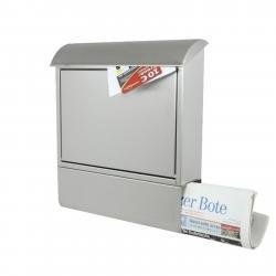 Heibi Poštovní schránka nerezová s novinovou přihrádkou