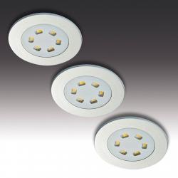 HERA 3dílná sada LED podhledové svítidlo R 55