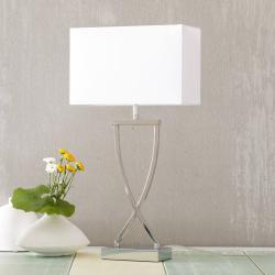 FISCHER & HONSEL Stolní lampa Anni chromovaná bílá