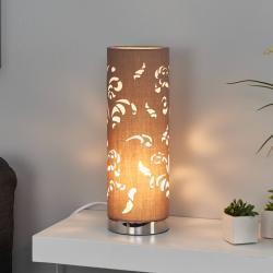 FISCHER & HONSEL Stolní lampa Flora cappuccino sdekorem