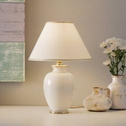 AUSTROLUX BY KOLARZ KOLARZ Giardino Craclee – bílá stolní lampa 30 cm