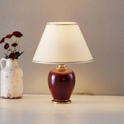 AUSTROLUX BY KOLARZ COLARZ Bordeaux – půvabná stolní lampa, 34 cm