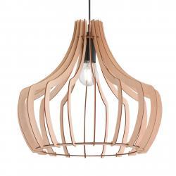 Reality Leuchten Dřevěné závěsné světlo Wood, 38,5 cm