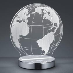 Reality Leuchten S 3D efektem - stolní lampa LED Globe, nastavovací