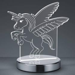 Reality Leuchten 3D hologramová stolní lampa Karo s jednorožcem