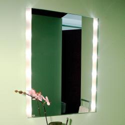 Top Light Hranaté nástěnné zrcadlo BRIGHTLIGHT, osvětlené