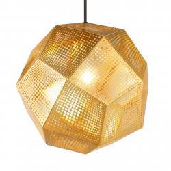 Tom Dixon Tom Dixon Etch - geometrické závěsné světlo, mosaz