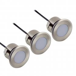 Heitronic 3dílná sada LED podhledové svítidlo Norimberk III