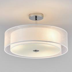 Lindby Stropní LED světlo Pikka s bílým stínítkem