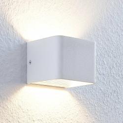 Lindby Nástěnné LED světlo Lonisa, bílé, 10 cm