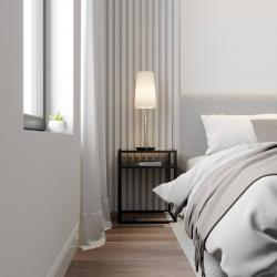 Lucande Lucande Pordis stolní lampa, chrom-bílá