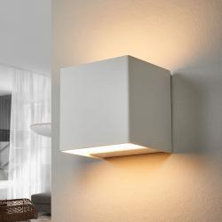 Lindby LED nástěnné světlo Kimberly, 9 x 9 cm, bílé