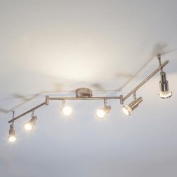 Lindby LED stropní svítidlo Aron barvy nikl, 6zdrojové