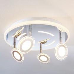 Lindby LED stropní svítidlo Enissa, kulaté, 4zdrojové