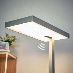 Arcchio Kancelářská LED stojací lampa Nora, snímač, 50 W