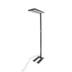 Arcchio LED kancelářská stojací lampa Logan, černá stmívač