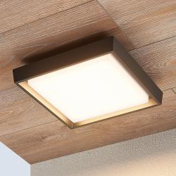 Lucande LED venkovní stropní svítidlo Birta, hranaté 27 cm