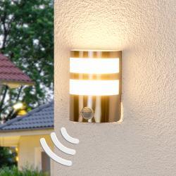 Lindby LED venkovní nástěnné svítidlo se snímačem Lucja