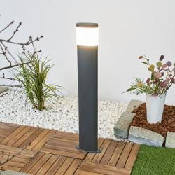 Lindby Tmavě šedé LED svítidlo pro chodníky Marius