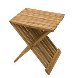 DEOKORK Zahradní odkládací stolek FLOW (teak)