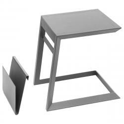 Kovový odkládací stolek LISABON (antracit)