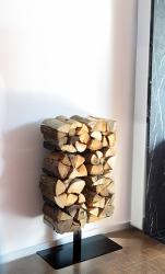 Radius design cologne Dřevník 8 poliček RADIUS DESIGN (WOODEN TREE STAND SMALL 730A) černá