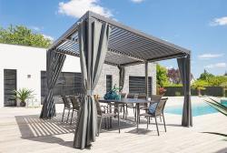HESPERIDE Zahradní hliníkový altán LUXURY 4x3 m (grafit)