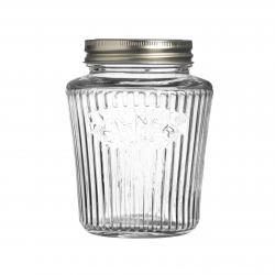 Vintage kulatá zavařovací sklenice, 0,5 l