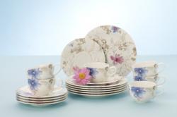 Villeroy & Boch Mariefleur Gris porcelánový kávový servis, 18 ks
