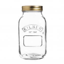 Zavařovací sklenice Kilner s kovovým víčkem, 1 l