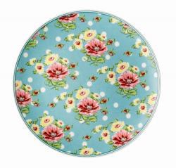Rosenthal Springtime Flowers talíř Turquise, ø 22 cm