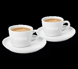 Cremesso set 2 šálků na kávu s podšálky