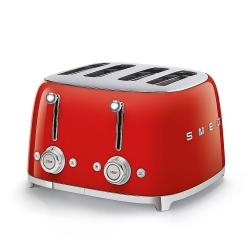 Toustovač Smeg 50´s Retro Style TSF03, 4x4, červený