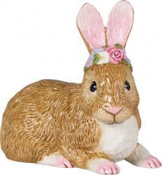 Villeroy & Boch Easter Bunnies ležící zajíc s věnečkem, 17 cm