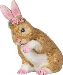 Villeroy & Boch Easter Bunnies sedící zajíček s věnečkem, 11,5 cm