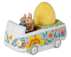 Villeroy & Boch Bunny Tales velikonoční dekorace, zajíčci řídí minibus