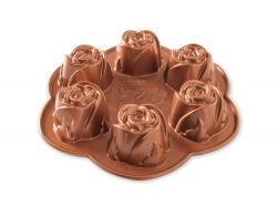 Forma Nordic Ware na 6 dortových růžiček, měděná, 0,5l