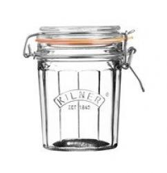 Zavařovací sklenice Kilner s klipem, fasetový design, 0,45l