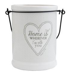 Závěsná keramická dóza My Lovely Home - pr 12 * 17 cm