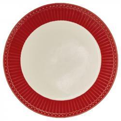 Dezertní talíř Alice red