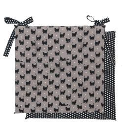 Podsedák s výplní šedý Cat Lovers - 40*40 * 4 cm