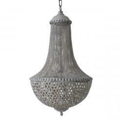 Light & Living Lustr BROCANTE ANGELIQUE  šedá antique  - Ø45*75 cm