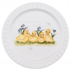 Velikoční talíř s dekorem housátek - Ø 23*2 cm