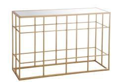 J-Line by Jolipa Konzolový stolek se skleněnou deskou
