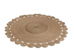 J-Line by Jolipa Kulatý koberec Oriental jutový - Ø220 cm