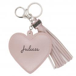 Juleeze Přívěsek na klíče Heart tassel pink