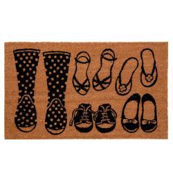 Kokosová rohožka Boot - 75*45 cm