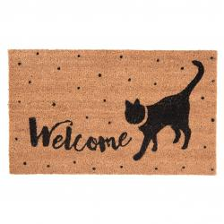 Kokosová rohožka Welcome Cat - 75*45 cm