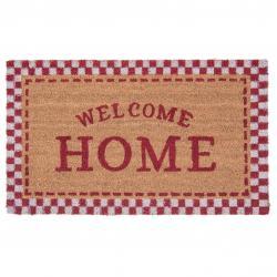 Kokosová rohožka Welcome Home red - 75*45 cm